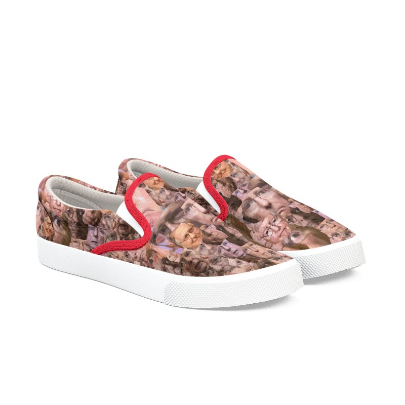 Mitch McConnell Shoes Women's Slip-On Shoes by Tee Panic T-Shirt Shop by Muzehack
