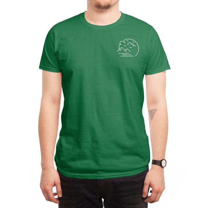 Mountain and clouds Men's T-Shirt by teeszone's Artist Shop