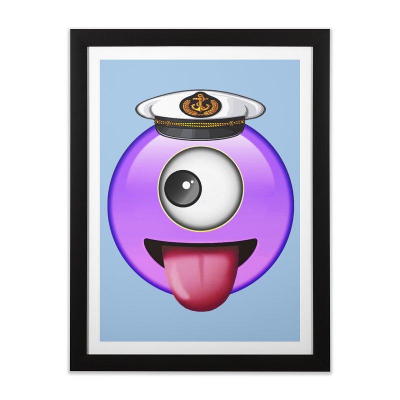 Captain Teez Home Framed Fine Art Print by Teezinvaders
