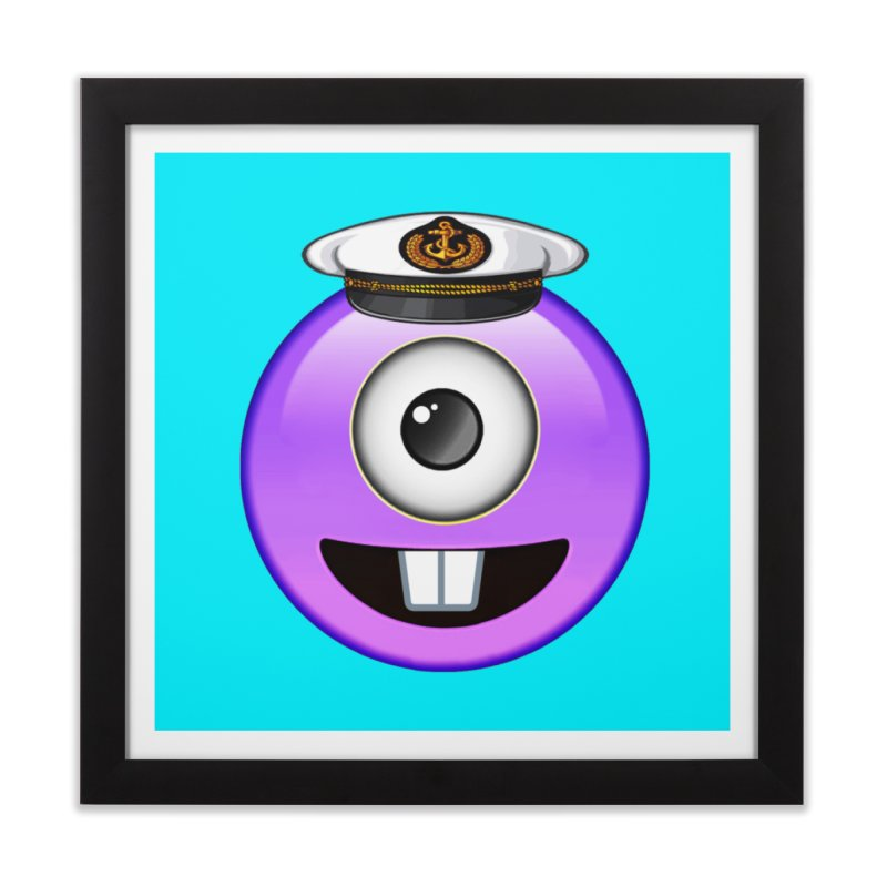Captain Tooth Teez Home Framed Fine Art Print by Teezinvaders