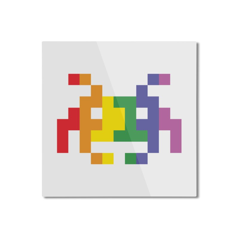 Space LGTB Teez Home Mounted Aluminum Print by Teezinvaders