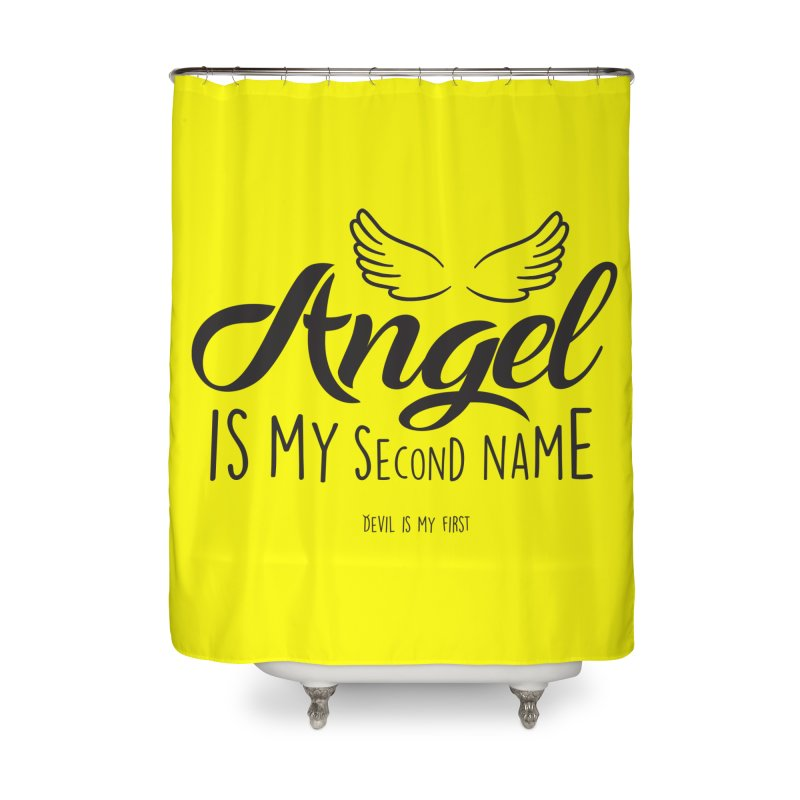 Angel & Devil Home Shower Curtain by Teezinvaders