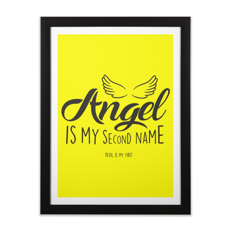 Angel & Devil Home Framed Fine Art Print by Teezinvaders