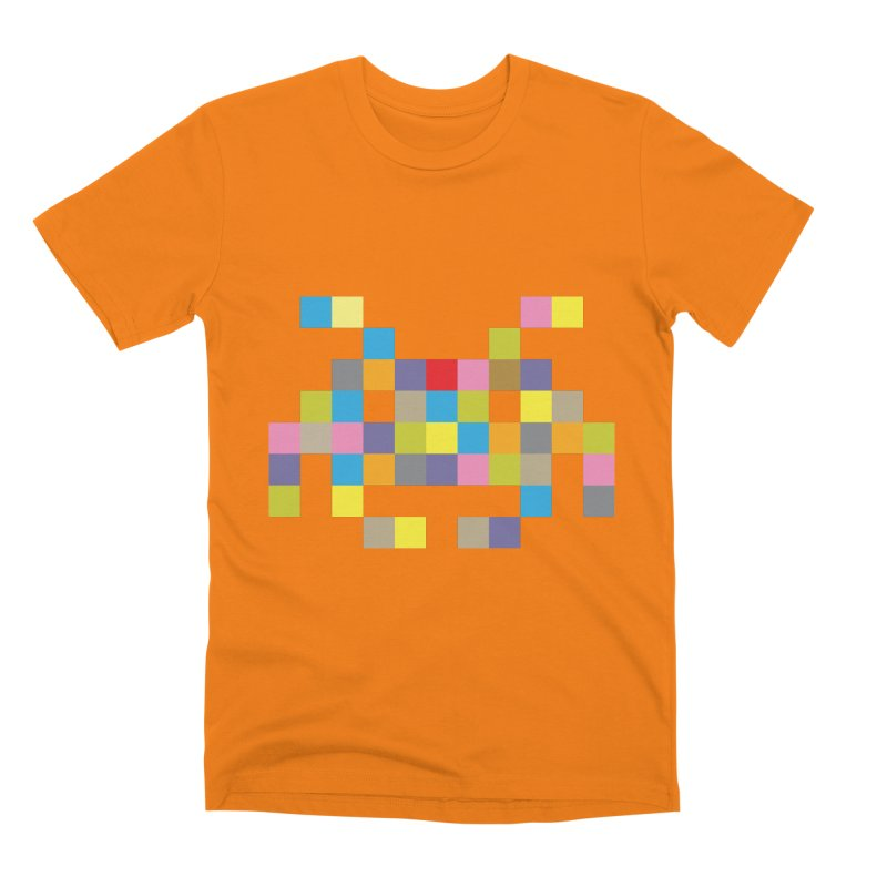 Pixel Face #2 Men's T-Shirt by Teezinvaders
