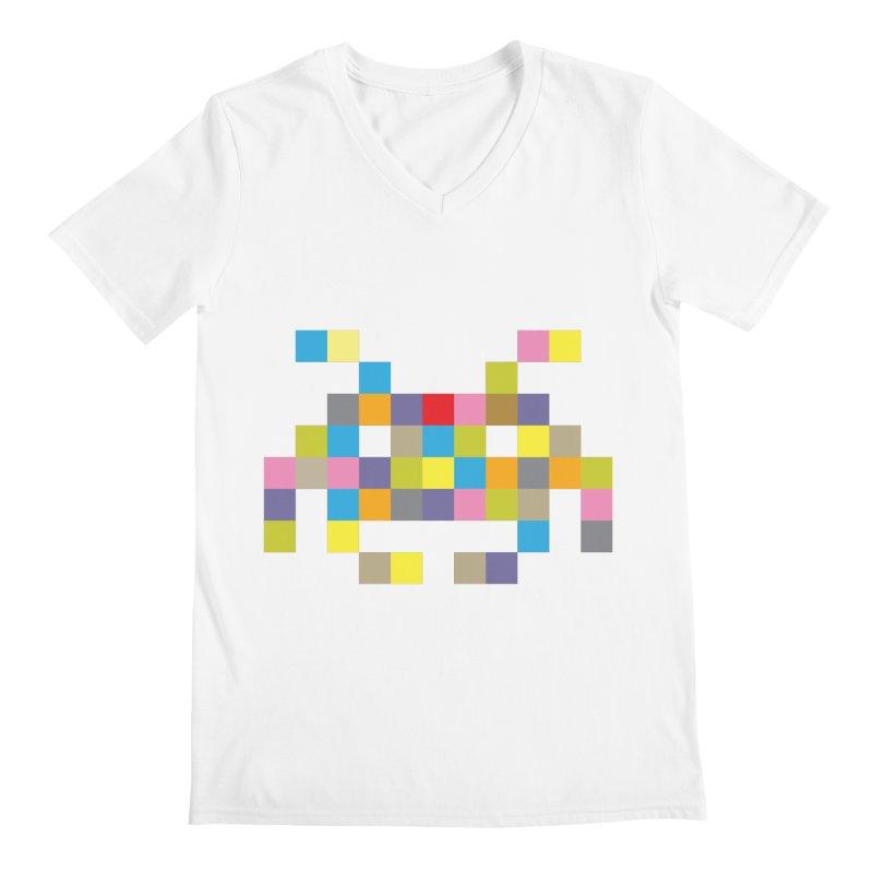 Pixel Face #2 Men's V-Neck by Teezinvaders