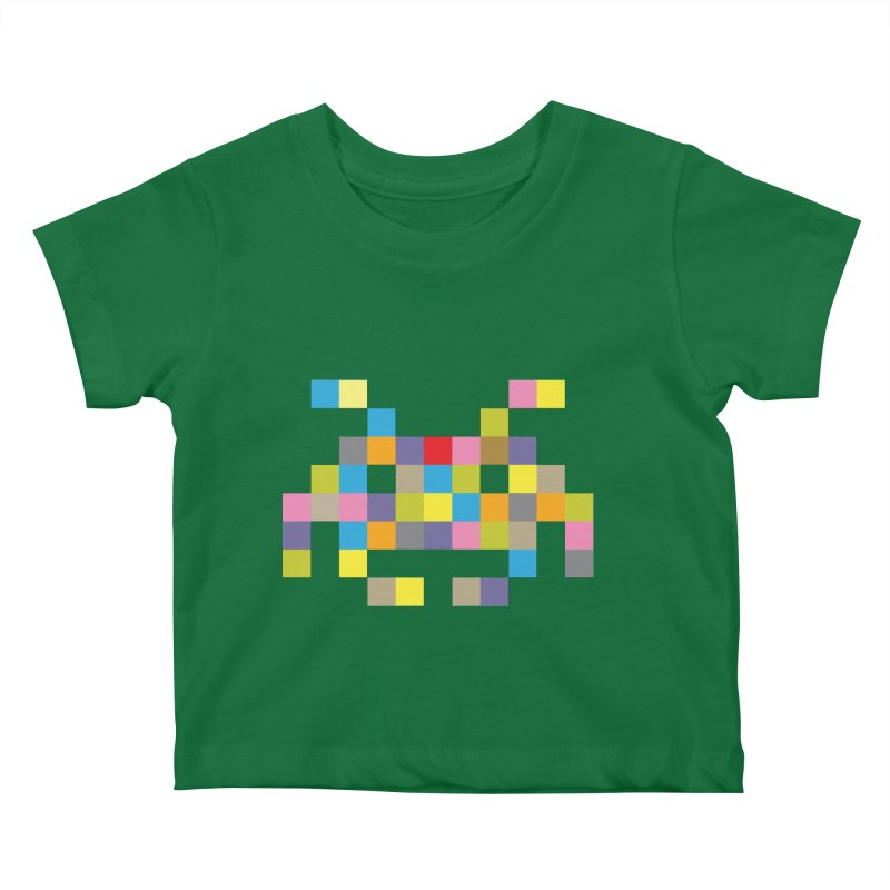 Pixel Face #2 Kids Baby T-Shirt by Teezinvaders