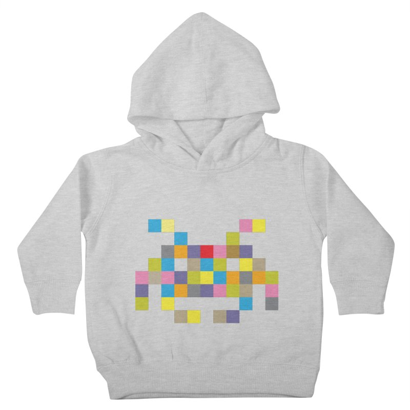 Pixel Face #2 Kids Toddler Pullover Hoody by Teezinvaders