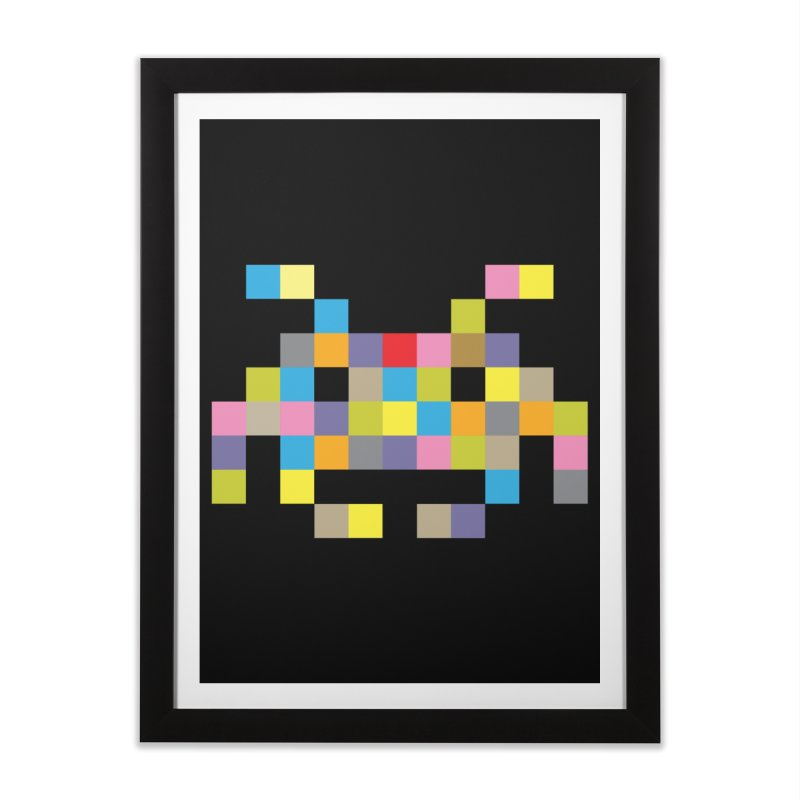 Pixel Face #2 Home Framed Fine Art Print by Teezinvaders