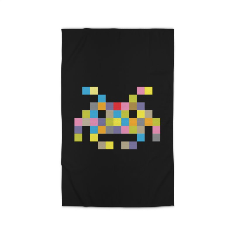 Pixel Face #2 Home Rug by Teezinvaders