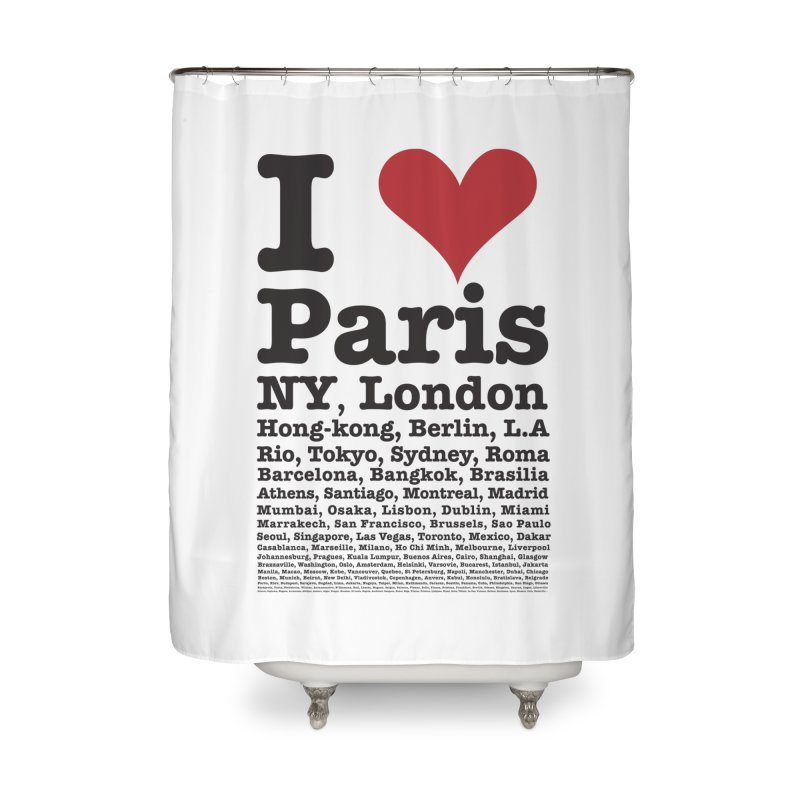 City Lover Home Shower Curtain by Teezinvaders