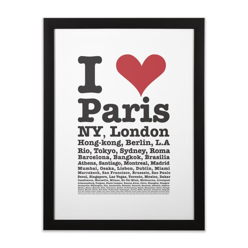 City Lover Home Framed Fine Art Print by Teezinvaders