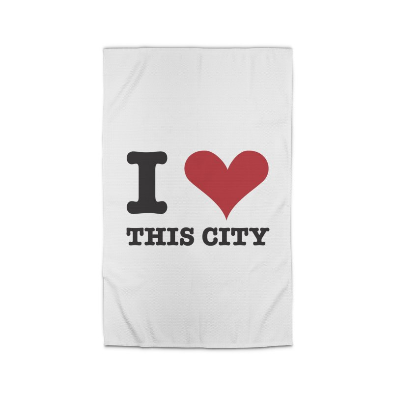 I Love This CIty Home Rug by Teezinvaders