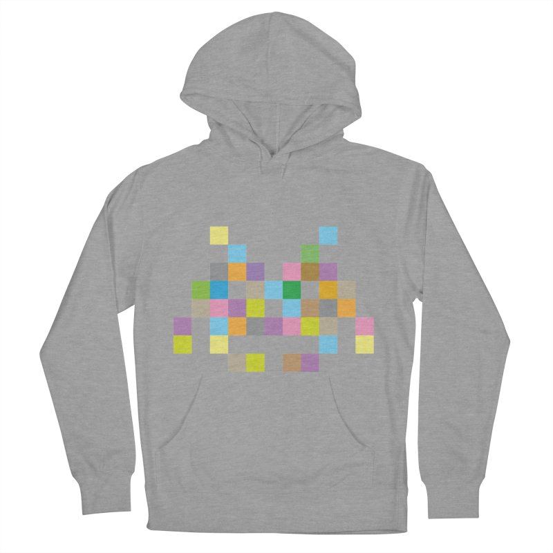 Pixel Face Women's French Terry Pullover Hoody by Teezinvaders