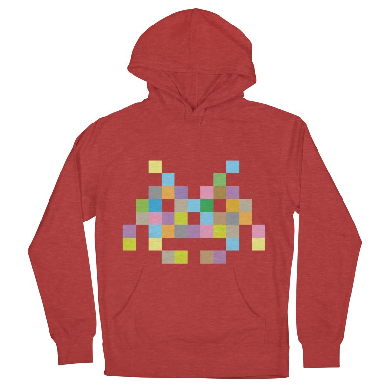 Pixel Face Women's Pullover Hoody by Teezinvaders