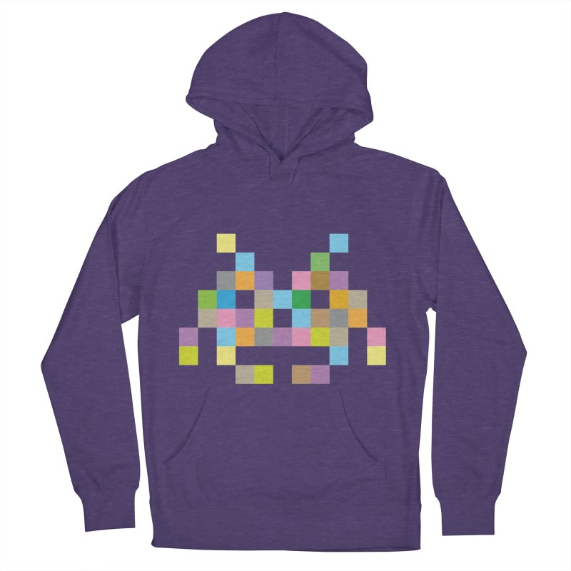 Pixel Face Men's French Terry Pullover Hoody by Teezinvaders