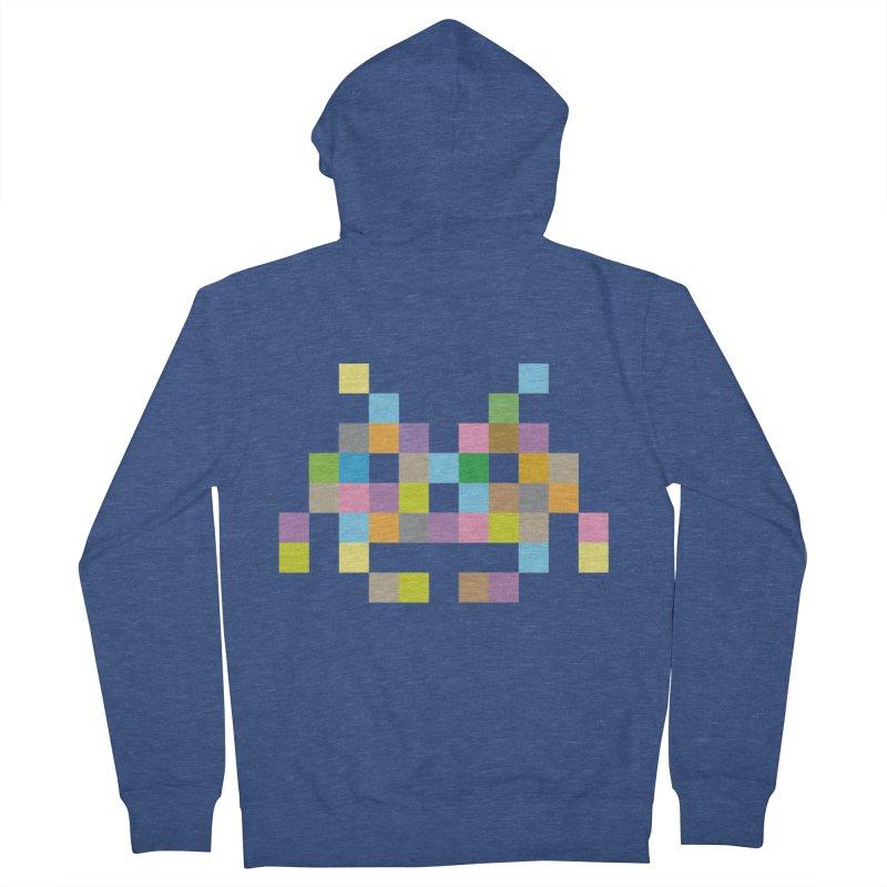 Pixel Face Women's Zip-Up Hoody by Teezinvaders