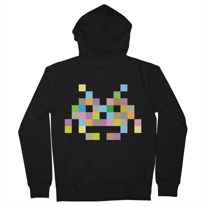 Pixel Face Men's Zip-Up Hoody by Teezinvaders