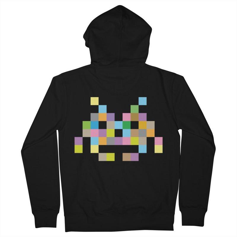 Pixel Face Men's Zip-Up Hoody by Teezinvaders