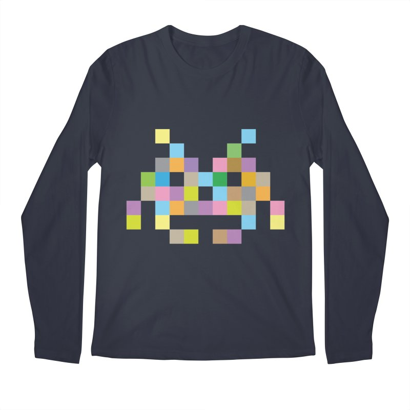 Pixel Face Men's Longsleeve T-Shirt by Teezinvaders