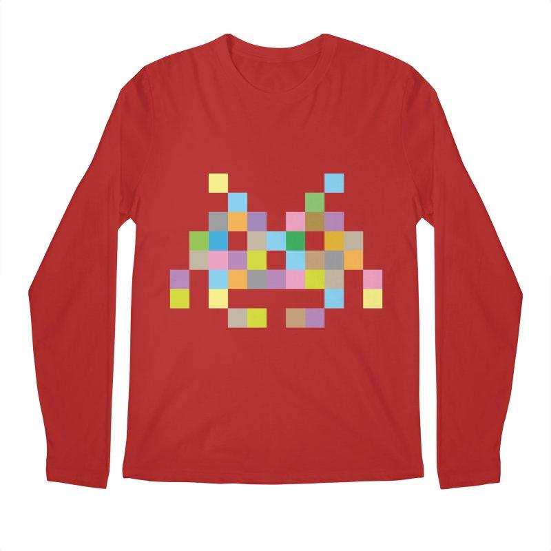 Pixel Face Men's Longsleeve T-Shirt by Teezinvaders