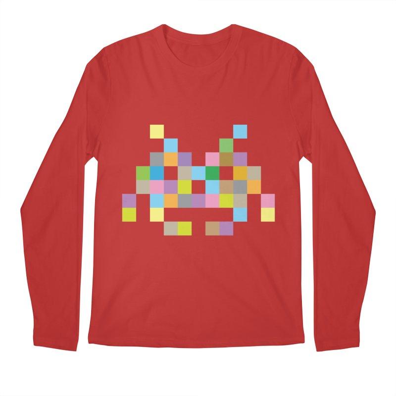 Pixel Face Men's Regular Longsleeve T-Shirt by Teezinvaders