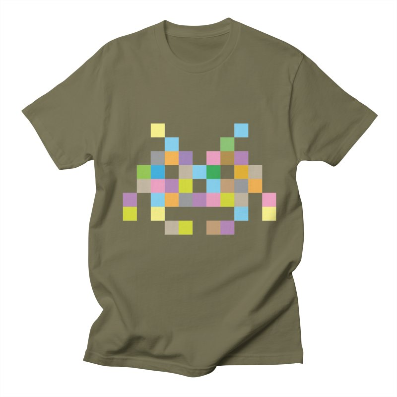 Pixel Face Men's Regular T-Shirt by Teezinvaders