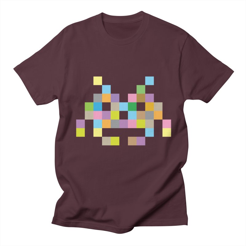 Pixel Face Men's Regular T-Shirt by Teezinvaders