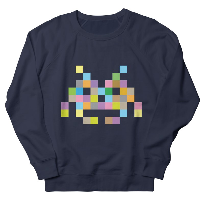 Pixel Face Women's French Terry Sweatshirt by Teezinvaders