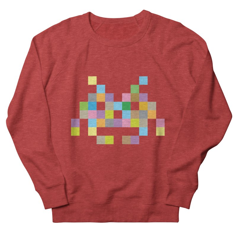 Pixel Face Men's French Terry Sweatshirt by Teezinvaders