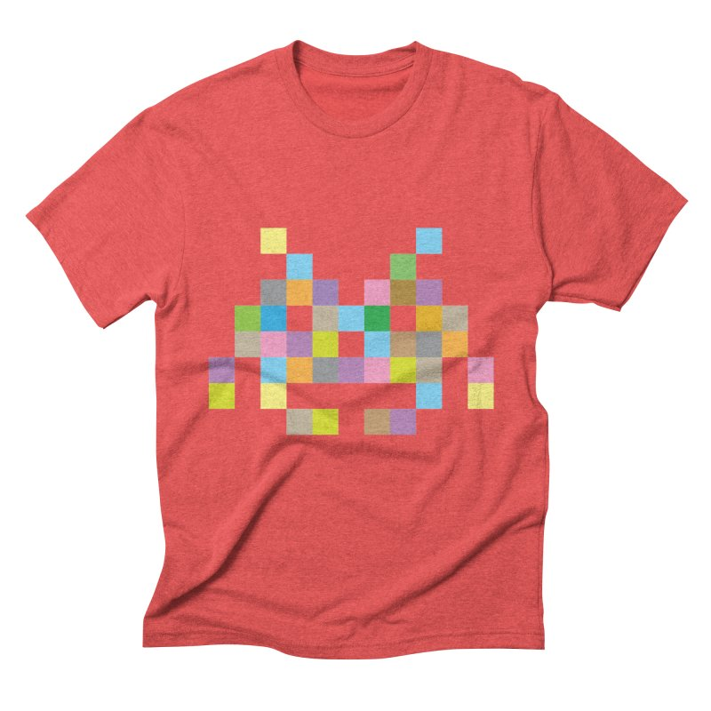 Pixel Face Men's Triblend T-Shirt by Teezinvaders