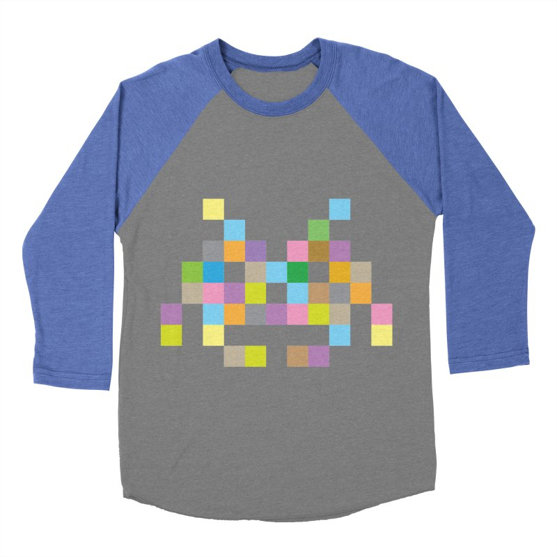 Pixel Face Women's Baseball Triblend T-Shirt by Teezinvaders