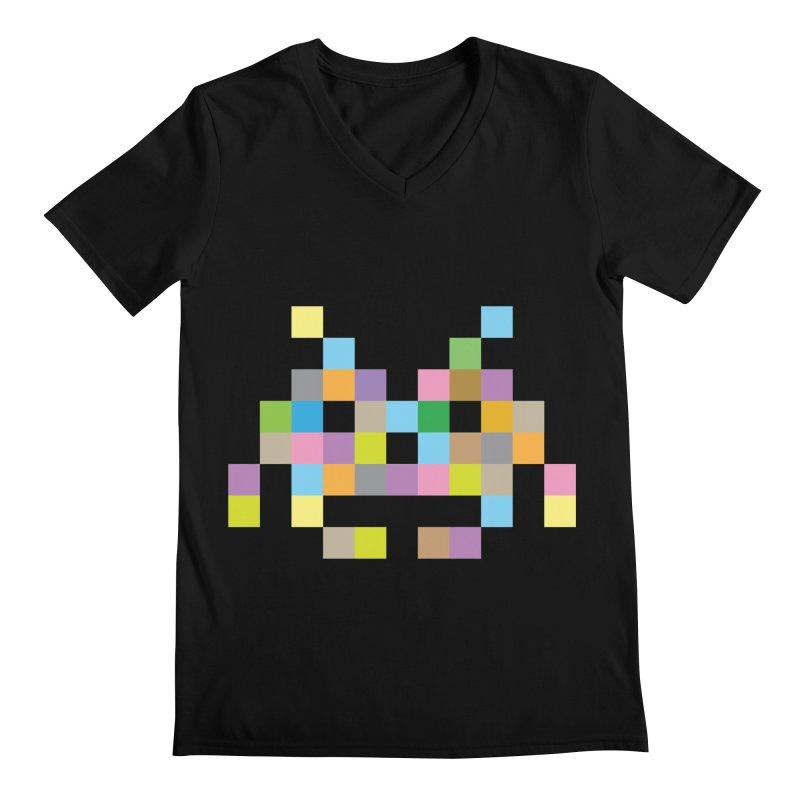 Pixel Face Men's V-Neck by Teezinvaders