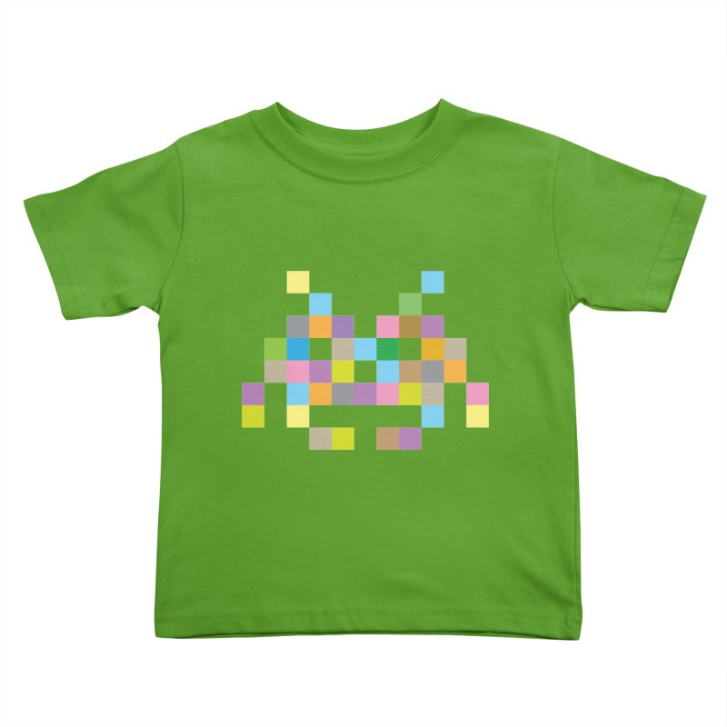 Pixel Face Kids Toddler T-Shirt by Teezinvaders