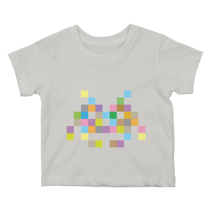 Pixel Face Kids Baby T-Shirt by Teezinvaders