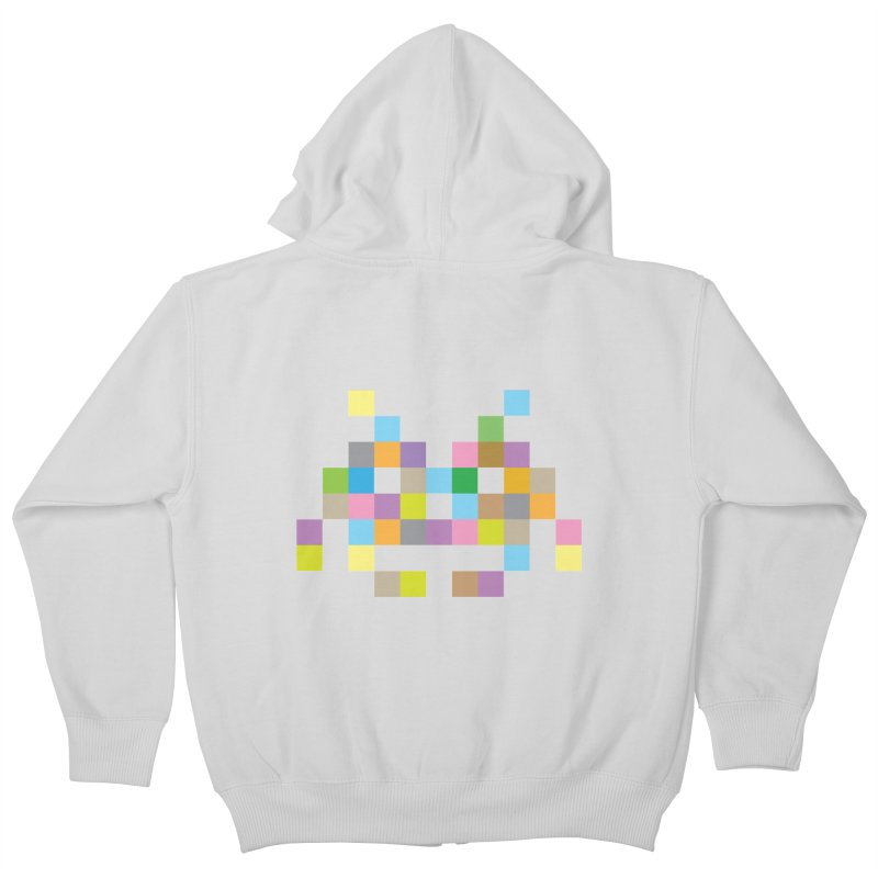 Pixel Face Kids Zip-Up Hoody by Teezinvaders