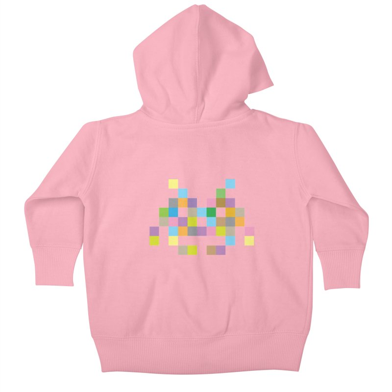 Pixel Face Kids Baby Zip-Up Hoody by Teezinvaders