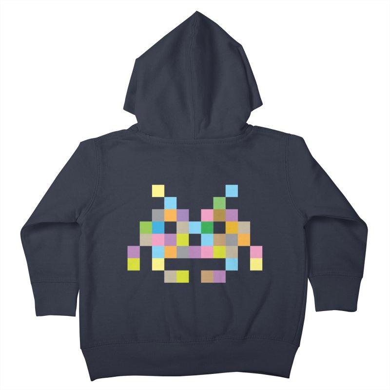 Pixel Face Kids Toddler Zip-Up Hoody by Teezinvaders