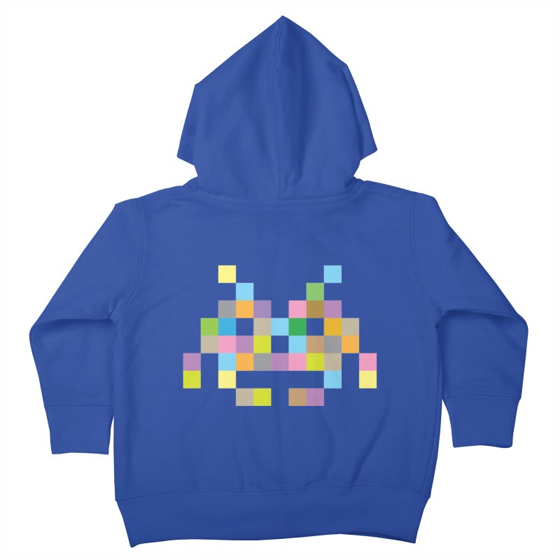 Pixel Face Kids Toddler Zip-Up Hoody by Teezinvaders