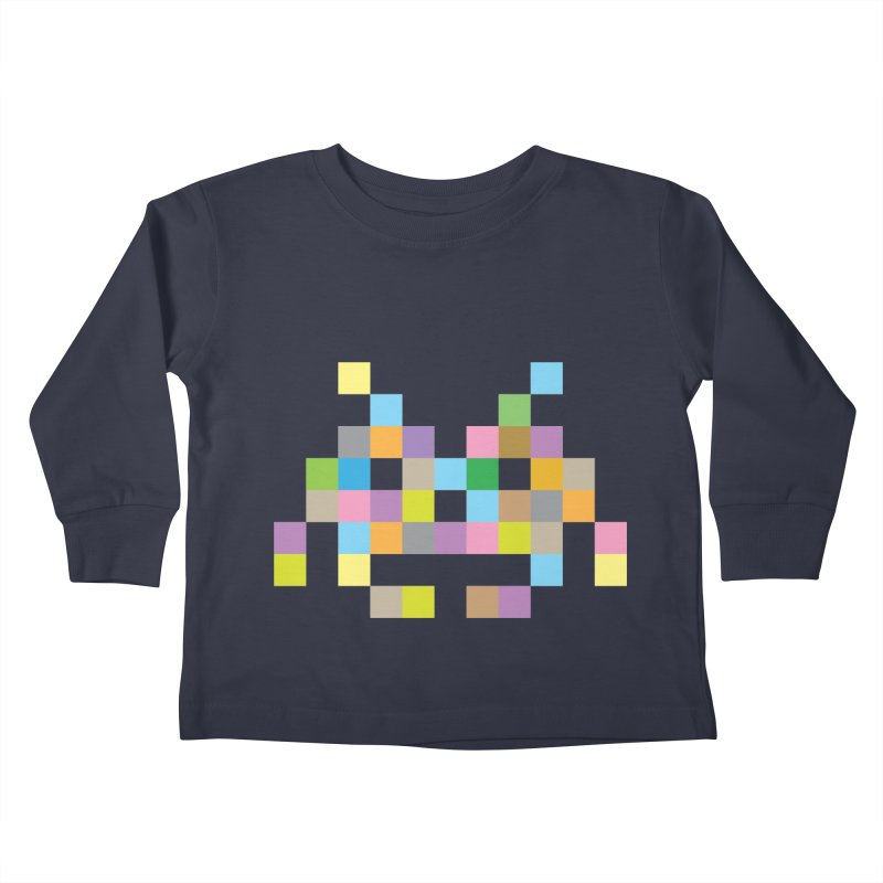 Pixel Face Kids Toddler Longsleeve T-Shirt by Teezinvaders