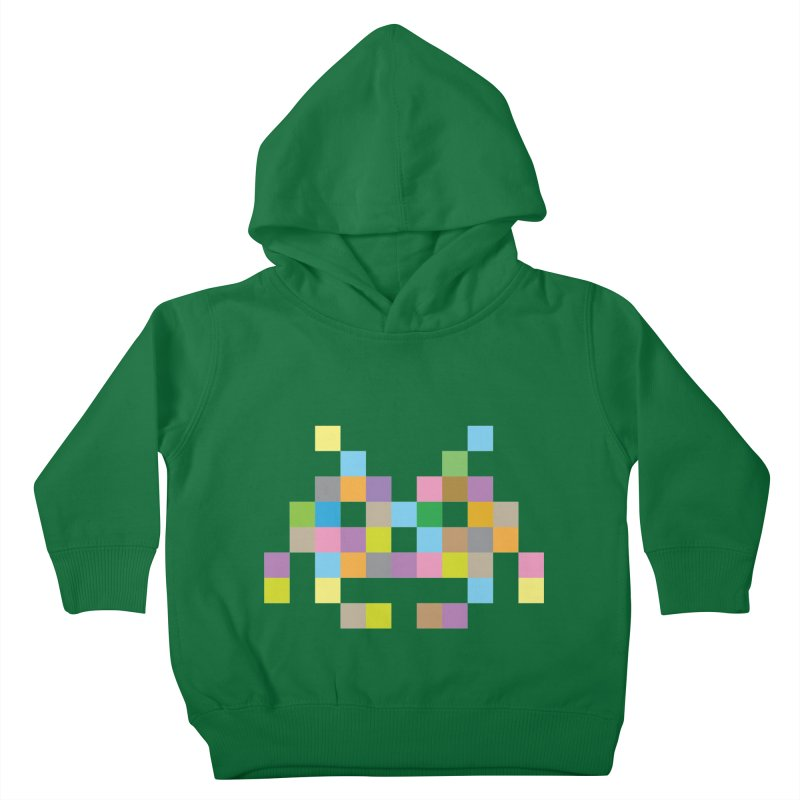 Pixel Face Kids Toddler Pullover Hoody by Teezinvaders