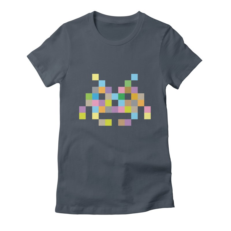Pixel Face Women's T-Shirt by Teezinvaders
