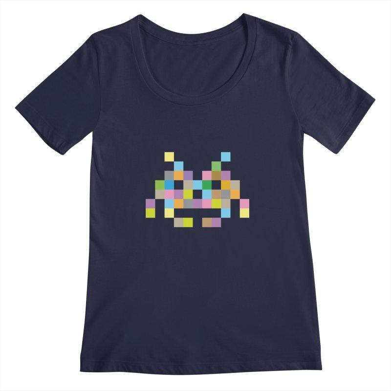 Pixel Face Women's Regular Scoop Neck by Teezinvaders