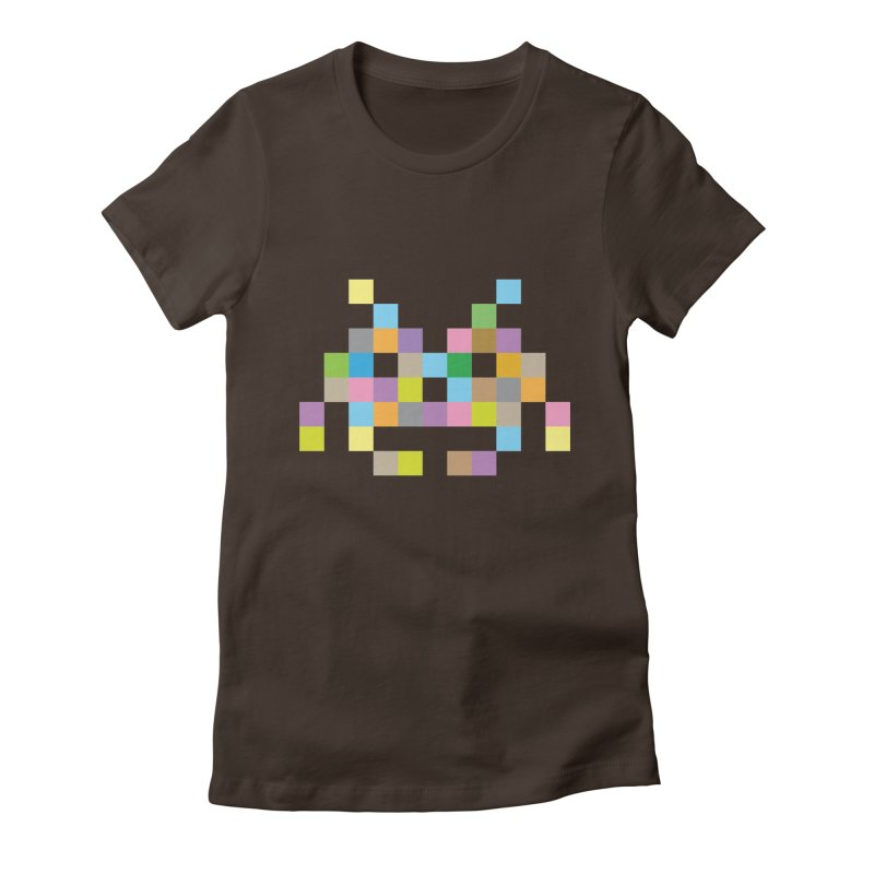 Pixel Face Women's Fitted T-Shirt by Teezinvaders