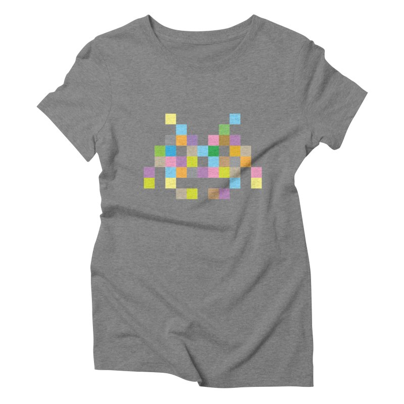 Pixel Face Women's Triblend T-shirt by Teezinvaders
