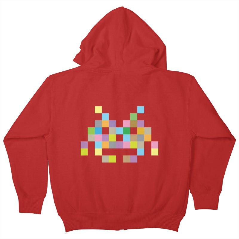 Pixel Face Kids Zip-Up Hoody by Teezinvaders