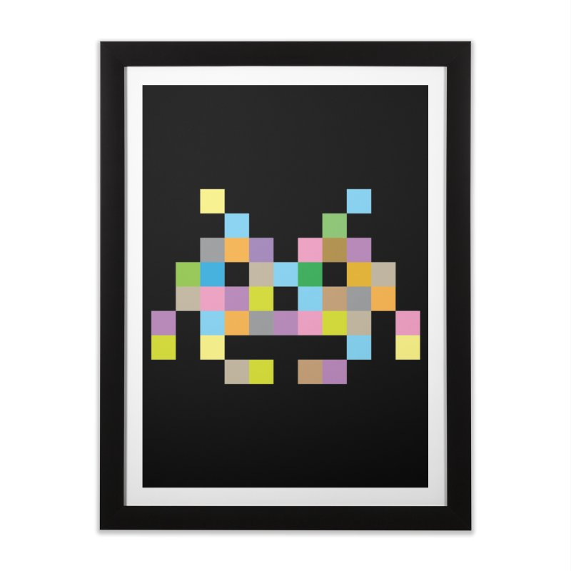 Pixel Face Home Framed Fine Art Print by Teezinvaders