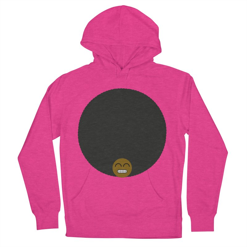 Afro Emoji Women's French Terry Pullover Hoody by Teezinvaders