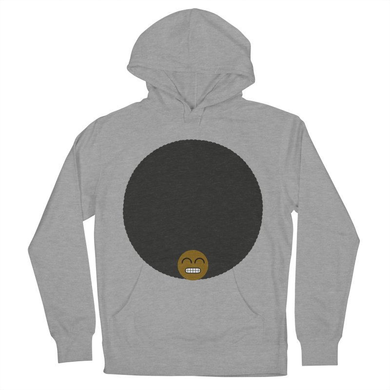 Afro Emoji Men's French Terry Pullover Hoody by Teezinvaders