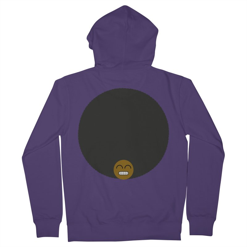 Afro Emoji Women's French Terry Zip-Up Hoody by Teezinvaders
