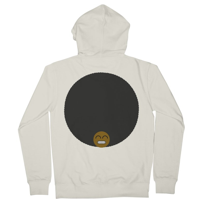 Afro Emoji Women's Zip-Up Hoody by Teezinvaders